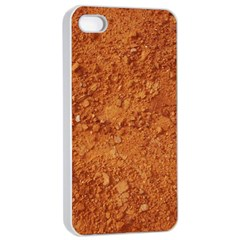 Orange Clay Dirt Apple Iphone 4/4s Seamless Case (white) by trendistuff