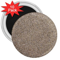 Light Beige Sand Texture 3  Magnets (10 Pack)  by trendistuff