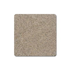 Light Beige Sand Texture Square Magnet by trendistuff
