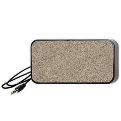Light Beige Sand Texture Portable Speaker (black)  by trendistuff