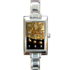 Golden Pearls Rectangle Italian Charm Watches by trendistuff