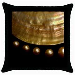 Golden Pearls Throw Pillow Cases (black) by trendistuff
