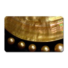 Golden Pearls Magnet (rectangular) by trendistuff