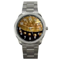 Golden Pearls Sport Metal Watches by trendistuff