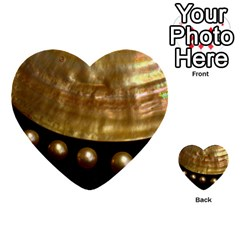 Golden Pearls Multi Purpose Cards (heart)  by trendistuff