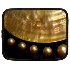 Golden Pearls Netbook Case (xl)  by trendistuff