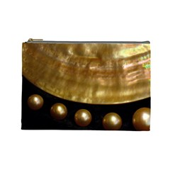 Golden Pearls Cosmetic Bag (large)  by trendistuff