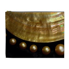 Golden Pearls Cosmetic Bag (xl) by trendistuff