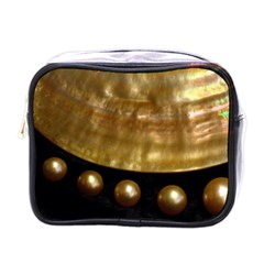 Golden Pearls Mini Toiletries Bags by trendistuff