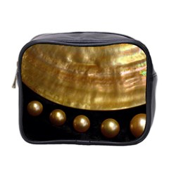 Golden Pearls Mini Toiletries Bag 2 Side by trendistuff