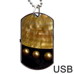 GOLDEN PEARLS Dog Tag USB Flash (Two Sides)  by trendistuff