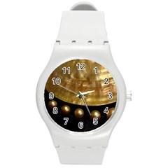 Golden Pearls Round Plastic Sport Watch (m) by trendistuff