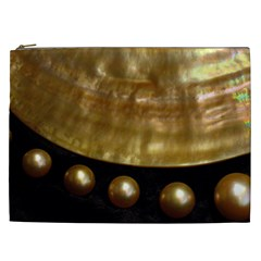 Golden Pearls Cosmetic Bag (xxl)  by trendistuff