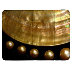 Golden Pearls Samsung Galaxy Tab 7  P1000 Flip Case by trendistuff