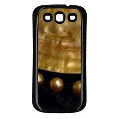 Golden Pearls Samsung Galaxy S3 Back Case (black) by trendistuff