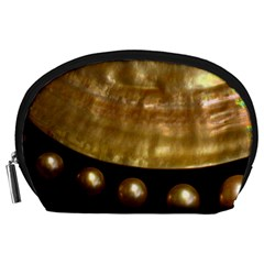 Golden Pearls Accessory Pouches (large)  by trendistuff