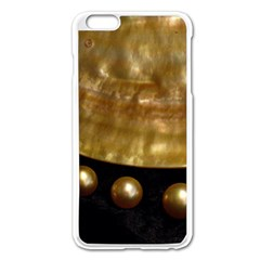 Golden Pearls Apple Iphone 6 Plus/6s Plus Enamel White Case by trendistuff