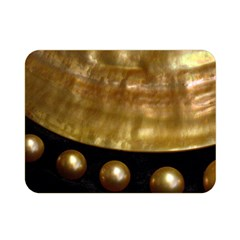 Golden Pearls Double Sided Flano Blanket (mini)  by trendistuff