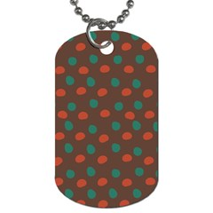 Distorted Polka Dots Pattern Dog Tag (two Sides) by LalyLauraFLM