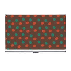 Distorted Polka Dots Pattern Business Card Holder by LalyLauraFLM