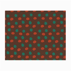 Distorted Polka Dots Pattern Small Glasses Cloth (2 Sides) by LalyLauraFLM