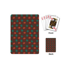 Distorted Polka Dots Pattern Playing Cards (mini) by LalyLauraFLM