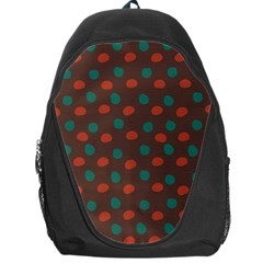 Distorted Polka Dots Pattern Backpack Bag by LalyLauraFLM