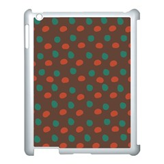 Distorted Polka Dots Pattern Apple Ipad 3/4 Case (white) by LalyLauraFLM