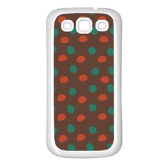 Distorted Polka Dots Pattern Samsung Galaxy S3 Back Case (white) by LalyLauraFLM