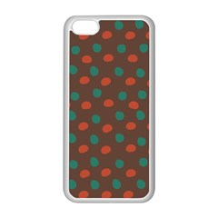Distorted Polka Dots Pattern Apple Iphone 5c Seamless Case (white) by LalyLauraFLM
