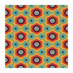 Stars And Honeycomb Pattern Medium Glasses Cloth by LalyLauraFLM