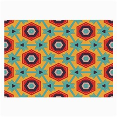 Stars And Honeycomb Pattern Large Glasses Cloth (2 Sides) by LalyLauraFLM