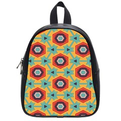 Stars And Honeycomb Pattern School Bag (small) by LalyLauraFLM