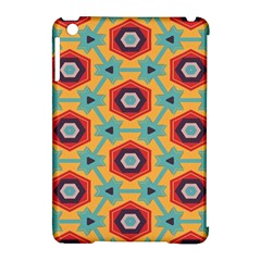 Stars And Honeycomb Pattern Apple Ipad Mini Hardshell Case (compatible With Smart Cover) by LalyLauraFLM