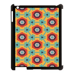 Stars And Honeycomb Pattern Apple Ipad 3/4 Case (black) by LalyLauraFLM