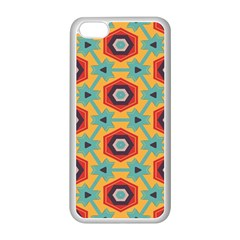 Stars And Honeycomb Pattern Apple Iphone 5c Seamless Case (white) by LalyLauraFLM