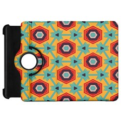 Stars And Honeycomb Patternkindle Fire Hd Flip 360 Case by LalyLauraFLM