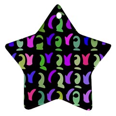 Misc Shapes Star Ornament (two Sides) by LalyLauraFLM