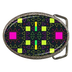 Triangles And Squares Belt Buckle
