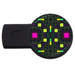 Triangles And Squares Usb Flash Drive Round (2 Gb) by LalyLauraFLM