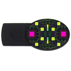 Triangles And Squares Usb Flash Drive Oval (2 Gb) by LalyLauraFLM