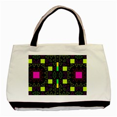 Triangles And Squares Basic Tote Bag (two Sides) by LalyLauraFLM