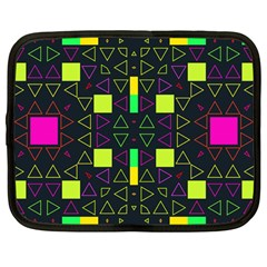 Triangles And Squares Netbook Case (large) by LalyLauraFLM