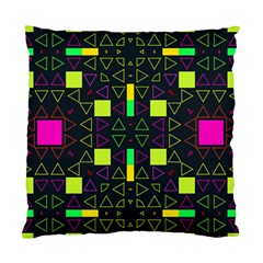 Triangles And Squares Standard Cushion Case (two Sides) by LalyLauraFLM