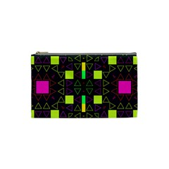 Triangles And Squares Cosmetic Bag (small) by LalyLauraFLM