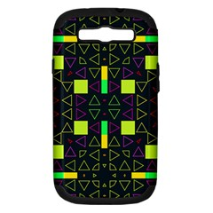 Triangles And Squares Samsung Galaxy S Iii Hardshell Case (pc+silicone) by LalyLauraFLM