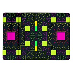 Triangles And Squares Samsung Galaxy Tab 10 1  P7500 Flip Case by LalyLauraFLM