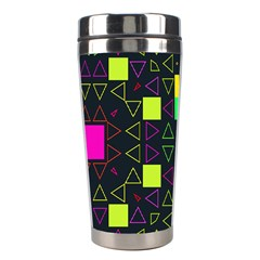 Triangles And Squares Stainless Steel Travel Tumbler by LalyLauraFLM