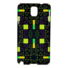 Triangles And Squares Samsung Galaxy Note 3 N9005 Hardshell Case by LalyLauraFLM