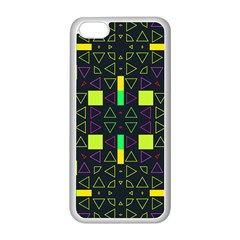 Triangles And Squares Apple Iphone 5c Seamless Case (white) by LalyLauraFLM